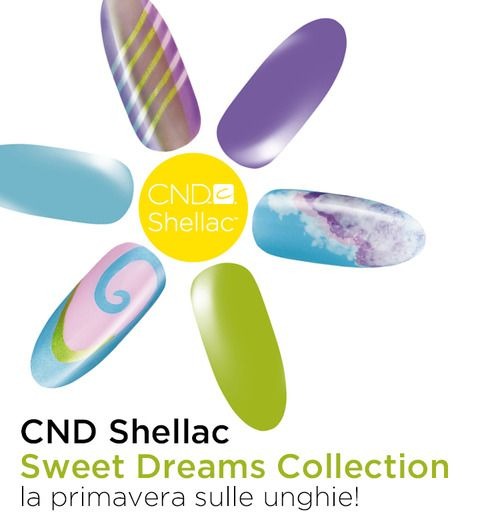"""Campagna: CND Shellac """"Sweet Dreams Collection"""" P/E 2013  CND: www.cndshellac.it"""