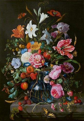 Jan Davidsz de Heem, 1670, Vaas met bloemen, Mauritshuis