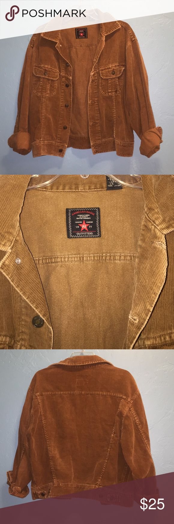 Vintage American Eagle Jacket Cute vintage corduroy jacket. I'm great condition. American Eagle Outfitters Jackets & Coats Jean Jackets