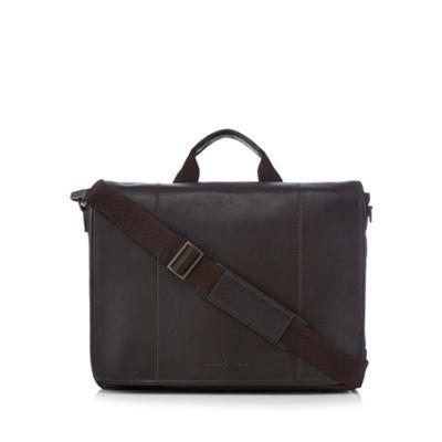 J by Jasper Conran Designer brown leather laptop bag | Debenhams