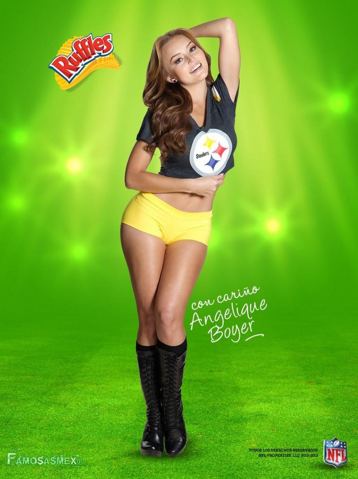 Angelique Boyer Promocion NFL Ruffles | Ruffles and NFL Olivia Wilde Irish