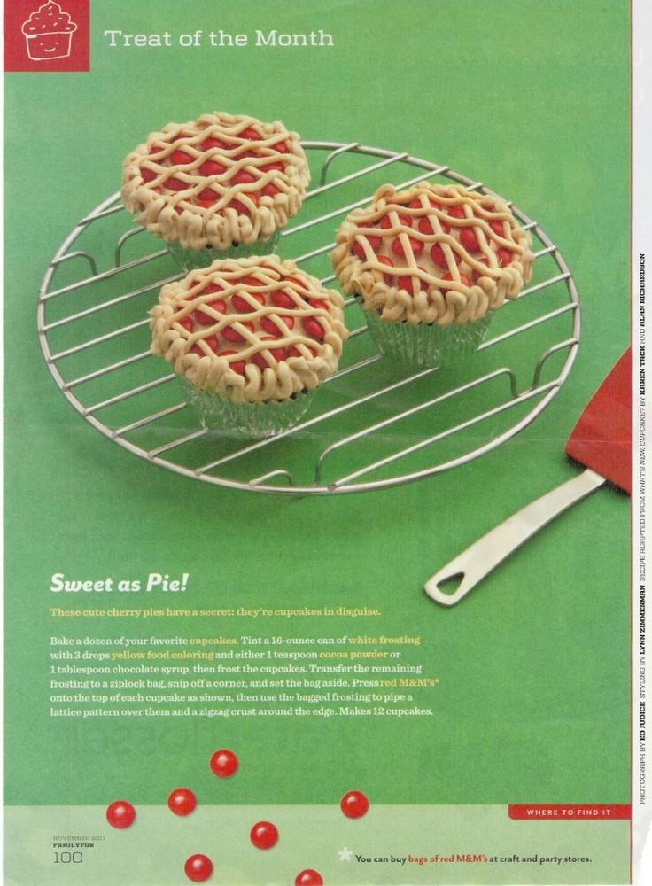 cherry pie cupcakes !Cute Cupcakes, Birthday Parties, Cooking Party, Pies Tarts, Parties Ideas, Cooking Parties, Cherries Pies Cupcakes, Pies Paradis, Cupcakes Rosa-Choqu