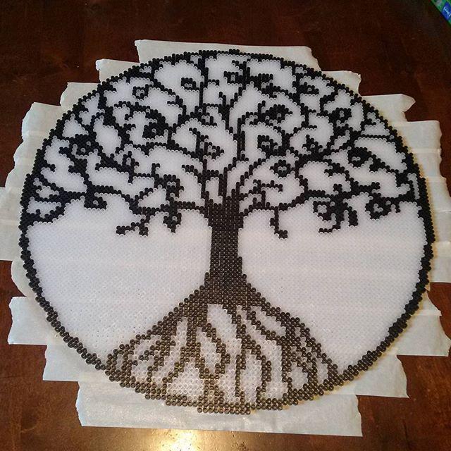 Tree of Life perler beads by kcpopick13 - Pattern: https://de.pinterest.com/pin/374291419013474318/