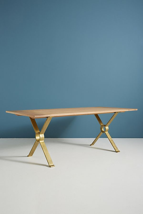 Brass Inlay Dining Table Table Dining Table Dining
