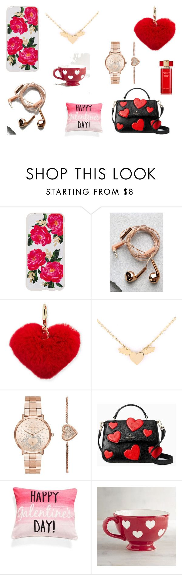 """""""Valentine's day gift guide for her"""" by lacreativeme on Polyvore featuring Sonix, Happy Plugs, Rebecca Minkoff, Michael Kors, Kate Spade, Levtex, Pier 1 Imports and Estée Lauder"""