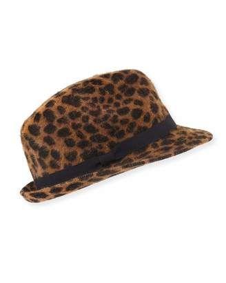 a7e17f5a7de Hat Attack Cheetah Print Angora Rabbit Fur Fedora  hat  womens ...