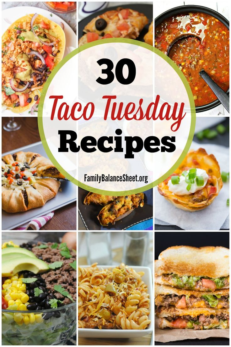 30 creative Taco Tuesday Recipes: From sandwiches and salads to casseroles and skillet dinners, you'll transform your next Taco Tuesday from a plain taco night into a festive and delicious event.