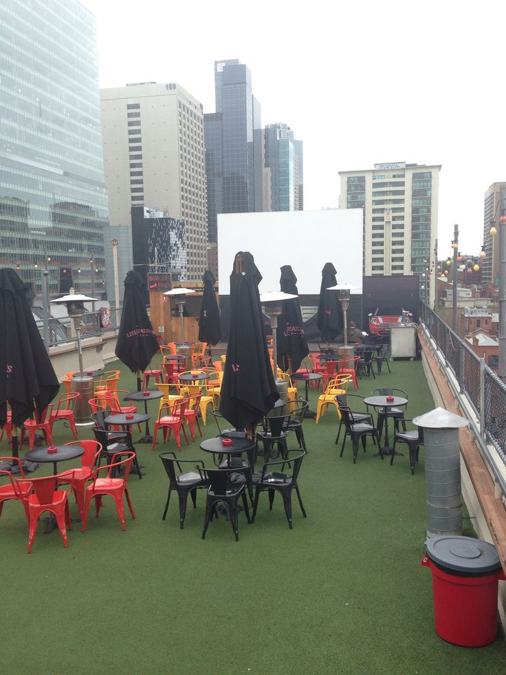 Swanson street Roof bar, top of Curtin House - Melbourne cbd. A great spot to chill with friends if it isn't too packed or wet and if you've managed to score a seat. They have top burgers and fries in their burger bar and cheap enough too!!