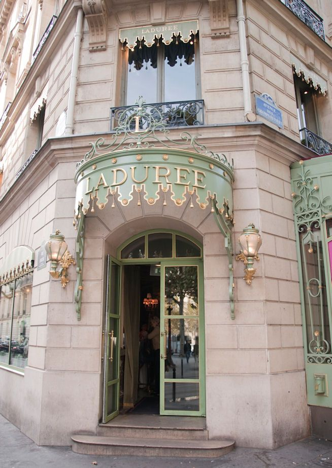 Laduree bakery in Paris, France - THE ULTIMATE destination for macarons and other exquisite desserts.