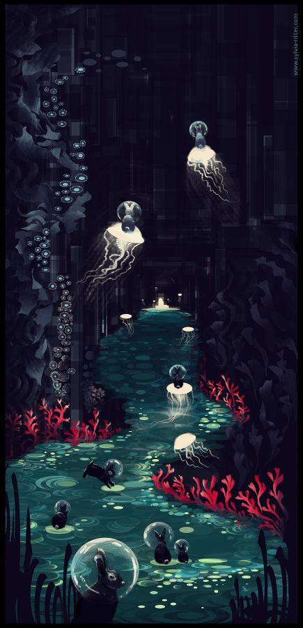 Bubble Bunny Underworld by faith303