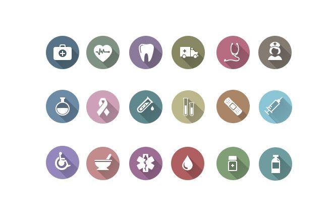 Health Icons Free PSD - Web Design Hood