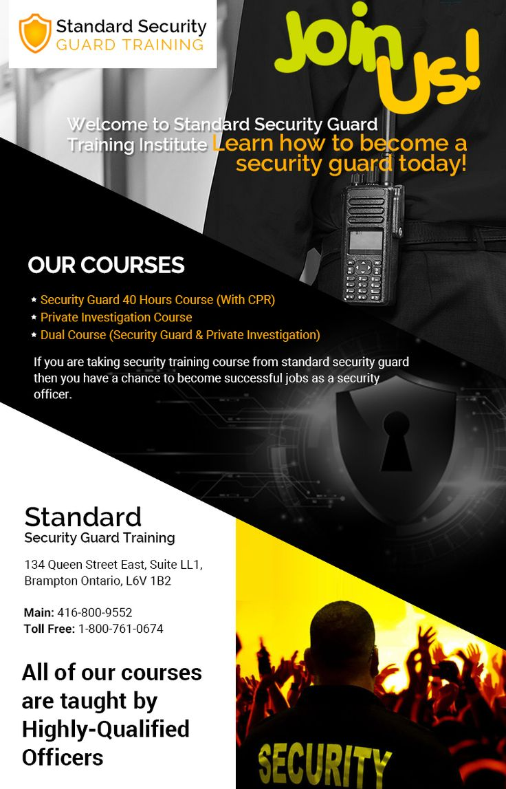 Pin on Security Guard Courses Brampton, Mississauga
