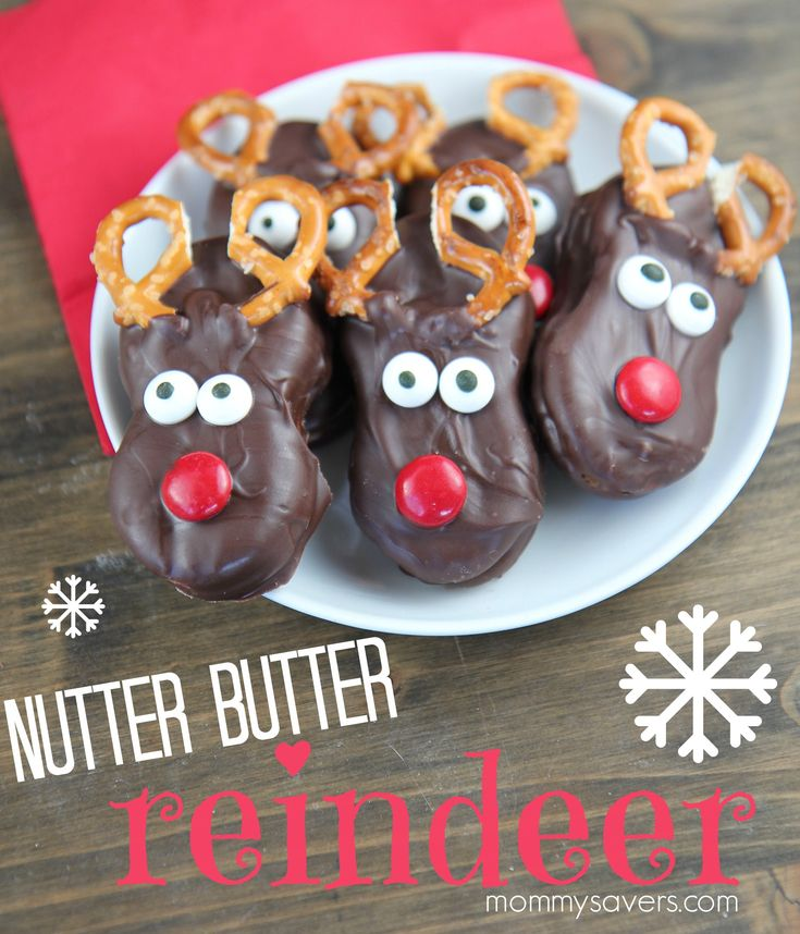 Chocolate Nutter Butter Reindeer Cookies Ooh, how I love cute holiday treats! These Chocolate Nutter Butter Reindeer are fun to make, and super-tasty. What you'll need: Nutter Butter cookies...