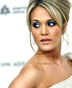 carrie underwood - makeup & hair.