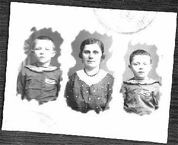 Passport Picture, 1930's Nicholas, Olga and Michael Zubko