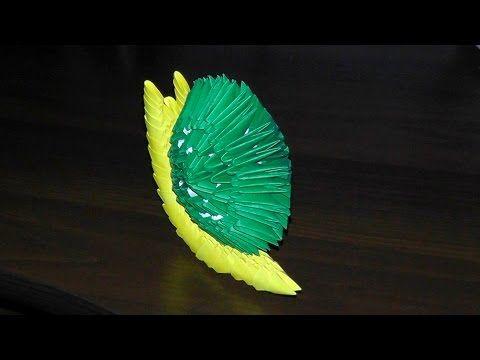 3D origami snail tutorial - YouTube