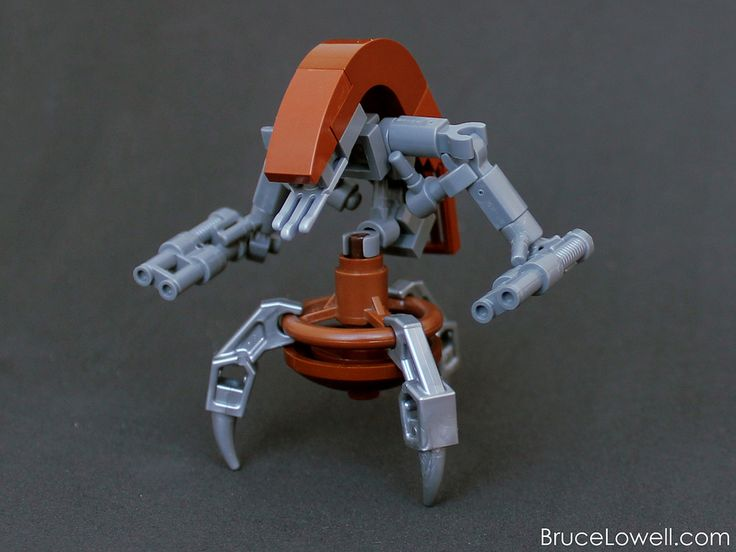 "https://flic.kr/p/rwnr8e | LEGO Destroyer Droid (Droideka) | I've been on a bit of a Star Wars kick lately, and had a little (VERY little) time to put this guy together. It's part of a series of droids and figures I made which I'll probably never get around to photographing, unless as a group shot.  <a href=""http://www.brucelowell.com/?p=2017"" rel=""nofollow"">www.BruceLowell.com</a>   Follow Bruce on: <a href=""http://instagram.com/bruceywan/"" rel=""nofollow"">Instagram</a> 