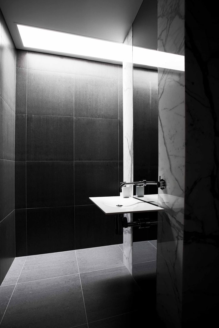 Bathroom showrooms canberra - Dramatic Bathroom By Collins Caddaye Architects Canberra Photography By Stefan Postles Chalk