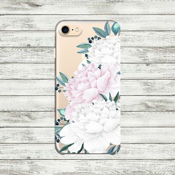 iPhone 7  clear case Peonies Floral iPhone 6 case iPhone 6