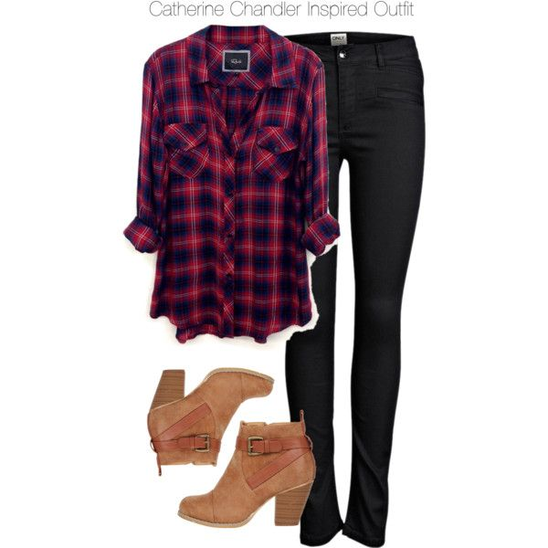 Beauty & the Beast - Catherine Chandler Inspired Outfit by staystronng on Polyvore featuring Rails, ONLY, Boots, plaid, BATB and catchandler