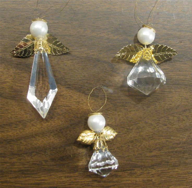 crystal bead angels (Mom or myself)