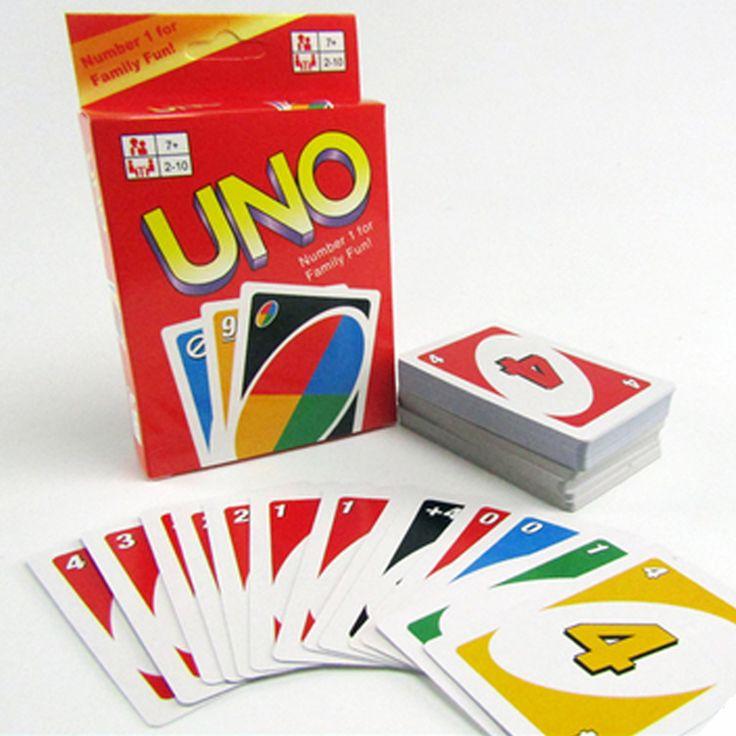 Familien Lustige Unterhaltung Bord kind Spiel UNO Spaß Poker Spielkarten Puzzle Spiele 108 karten