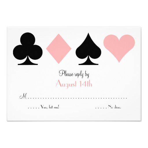 Pink Destiny Las Vegas Wedding RSVP reply card