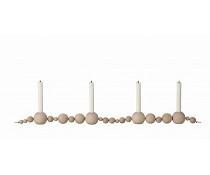 Ferm Living Kaarsenhouder crème hout 85cm, Candleholder String