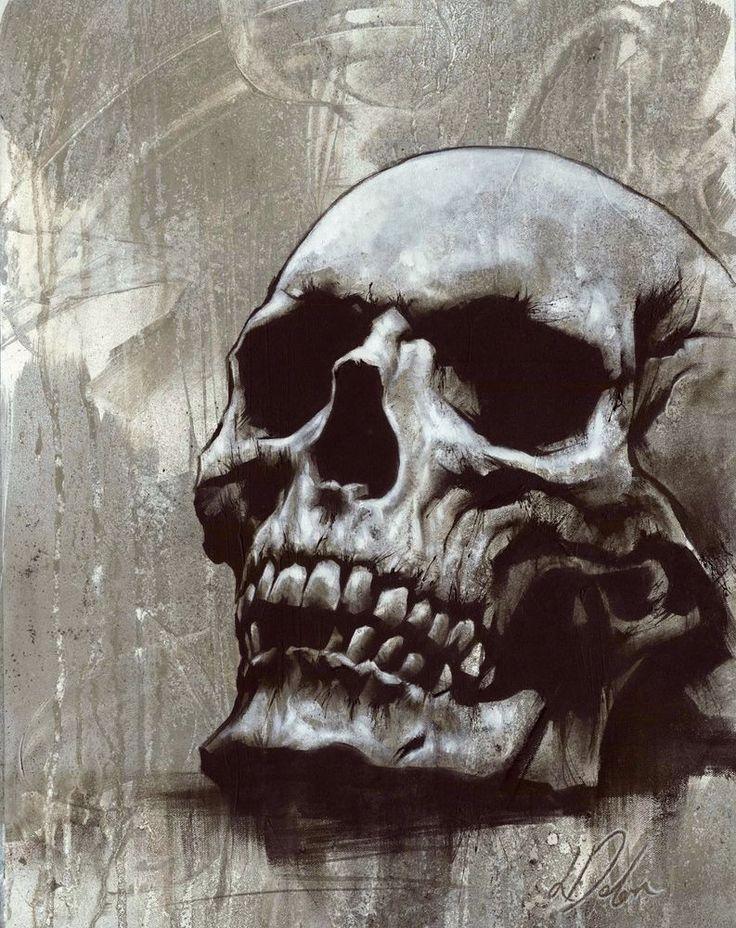 линия открытка в виде черепа быть они ждут