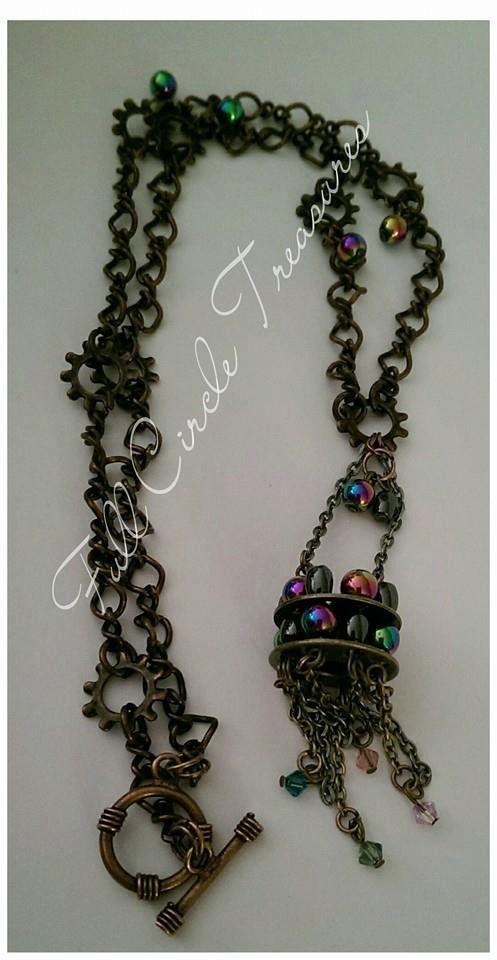 Handmade necklace Metaphysical  Upcycled by FullCircleTreasures