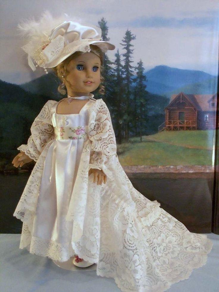 Empire Ivory Lace fits American Girl Caroline Elizabeth Felicity 18 in. dolls