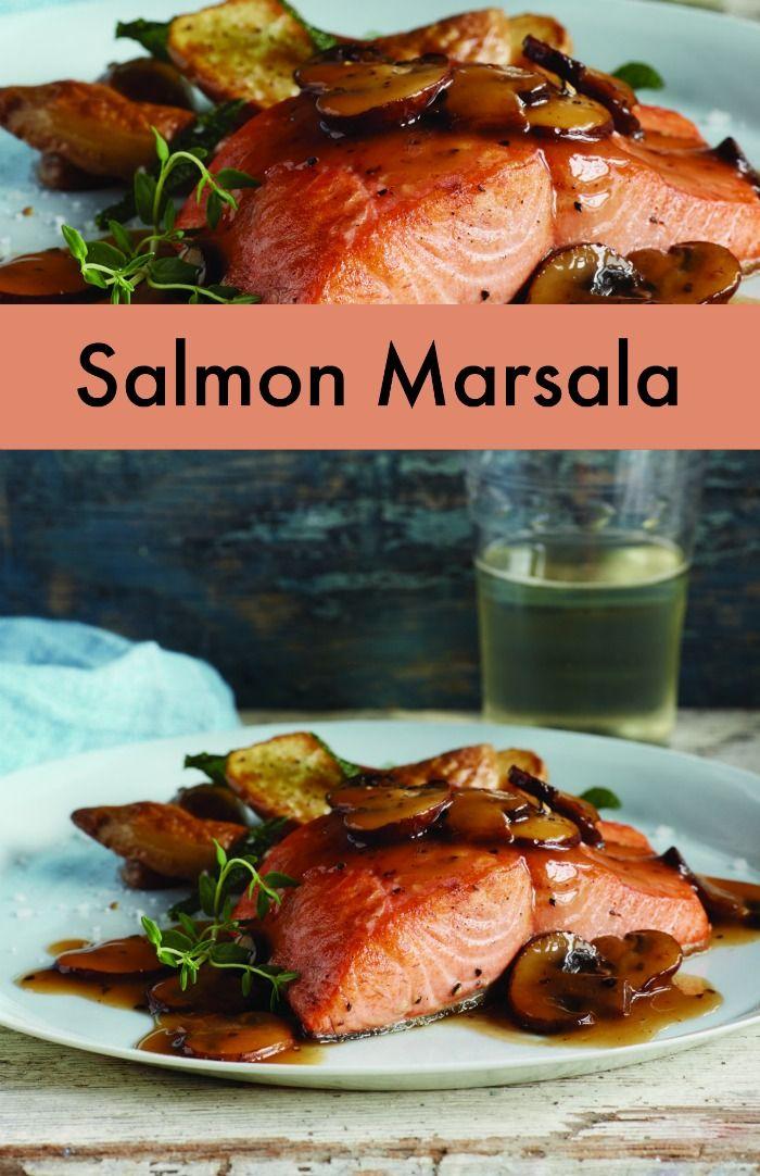 Salmon Marsala Recipe - A fun fish recipe twist on a classic dish!