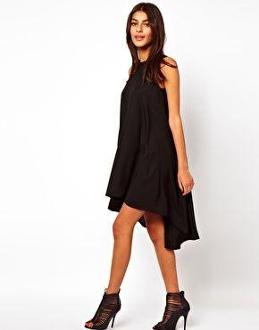 Image 1 ofASOS Sleeveless Swing Dress With Dipped Back