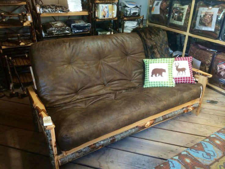 Our Rustic Futons come in a variety of styles for you to choose from, all are handcrafted in the USA for top quality and style. There are a variety of fabrics and frames available for each style pictured, each one can be made more 'rustic' by choosing bear/deer styles, or more upscale by choosing something like a southwest style--or you can keep it simple and choose a solid color to complement your existing décor.