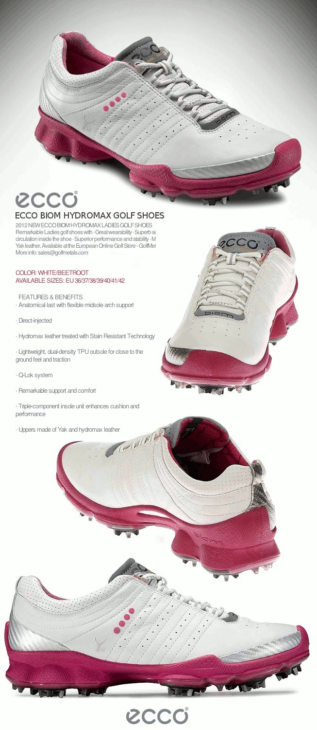 The BIOM Yak Hydromax Women's Golf Shoes by ECCO® in color Lilac-Concrete.
