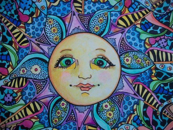The Psychedelic Summer Singleton Hippie Art by justgivemepeace, $105.00