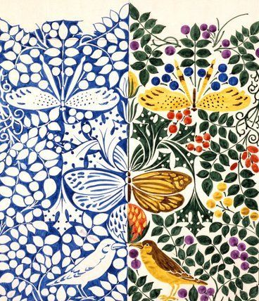 Design for Wallpaper or Textile, C.F.A. Voysey (V&A Custom Print)
