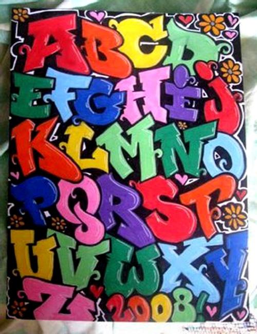 Extrêmement Les 25 meilleures idées de la catégorie Alphabet graffiti sur  LH11