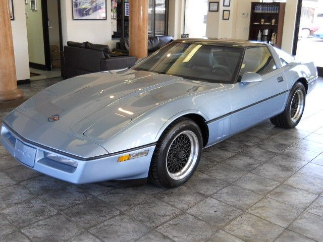 1985 Corvette Coupe - Light Blue Metallic with Blue Interior