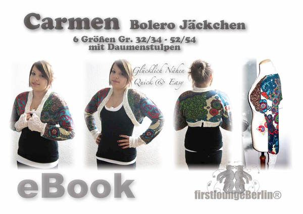 7 besten Bolero nähen Bilder auf Pinterest | Jacken, Kleidung nähen ...