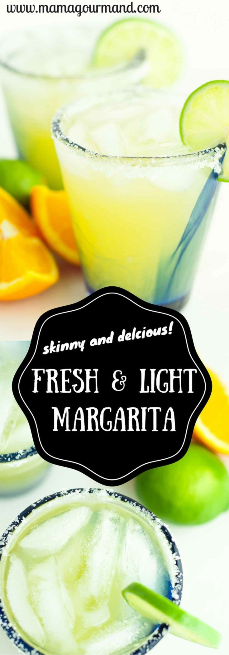 This Light and Fresh Margarita recipe is the absolutely perfect version of a fantastic drink. It's lighter in calories, uses fresh ingredients, and will be your new go to margarita recipe. www.mamagourmand.com