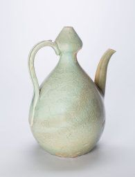 Korea, Gourd-Shaped Ewer with Lotus Flowers, Goryeo dynasty (918-1392), late 12th/early 13th century