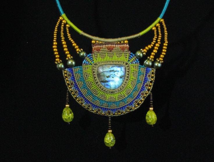 Macrame Necklace from Imbali Crafts  https://www.facebook.com/MagicKnotsCraft?fref=photo