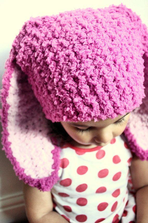 3 to 6m Bunny Hat Pink Girl Baby Hat Raspberry Pink Baby Girl Hat Bunny Beanie Dark Pink, Baby Pink Bunny Ear Photo Prop #baby #children #kids #kidsfashion #girlhat #boyhat #babyboy #babygirl #easter #bunny #bunnyhat #babyhat #hat #babamoon #etsy #photoprop #bunnycostume #eastercostume #christmasgifts #pink