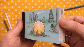 "BoredPanda  Flipbook animation with hidden ring inside for marriage proposal   ""Awesome"""