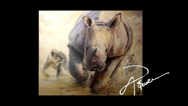 A Wild Life. (Airbrush Painting )
