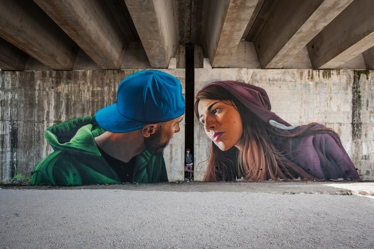 """""""The Kiss"""" by Lonac in Cassino, Italy"""