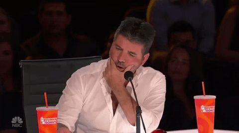 New trendy GIF/ Giphy. agt americas got talent simon cowell. Let like/ repin/ follow @cutephonecases