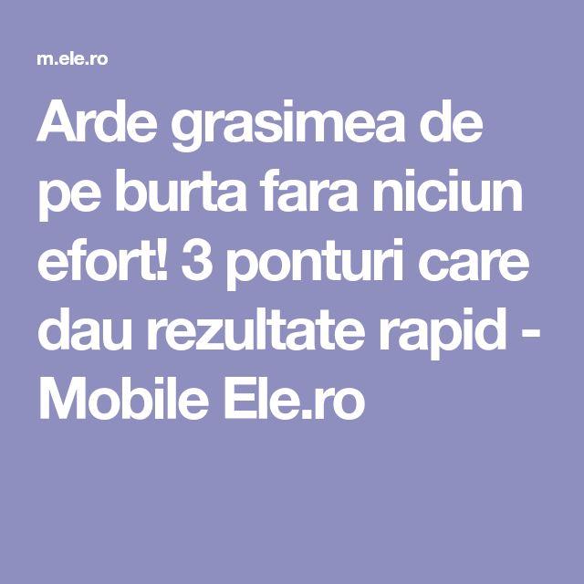 Arde grasimea de pe burta fara niciun efort! 3 ponturi care dau rezultate rapid - Mobile Ele.ro