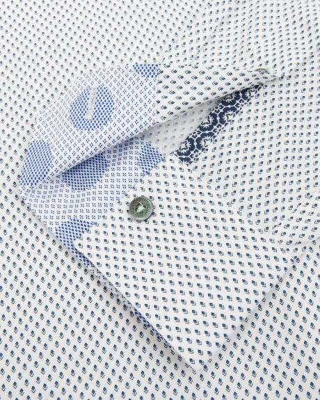 Geo print shirt - White | Shirts | Ted Baker UK